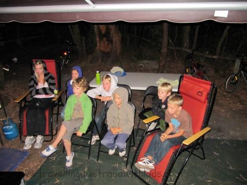 The outdoor movie theatre