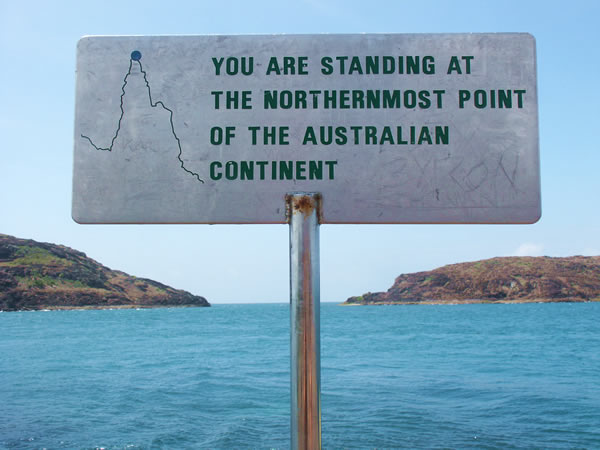 Cape York at the top
