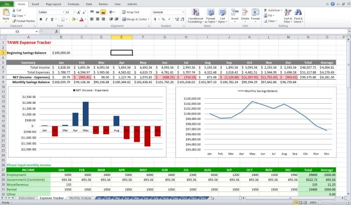 finance tracker spreadsheet