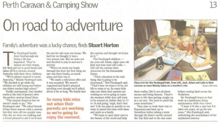 newspaper article on travel