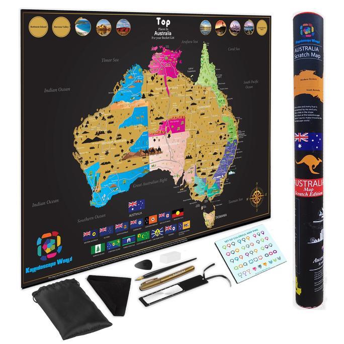 Show A Map Of Australia.The Australia Scratch Map