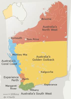 Australia Map Tropic Of Capricorn.Travelling Western Australia